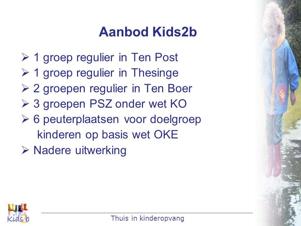 Aanbod Kids2b 1 groep regulier in Ten Post