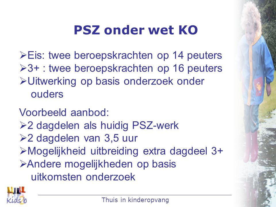 PSZ onder wet KO Eis: twee beroepskrachten op 14 peuters