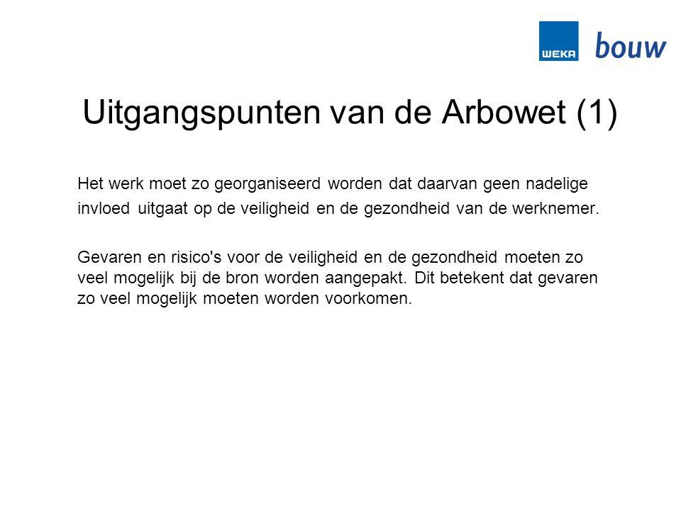 Uitgangspunten van de Arbowet (1)