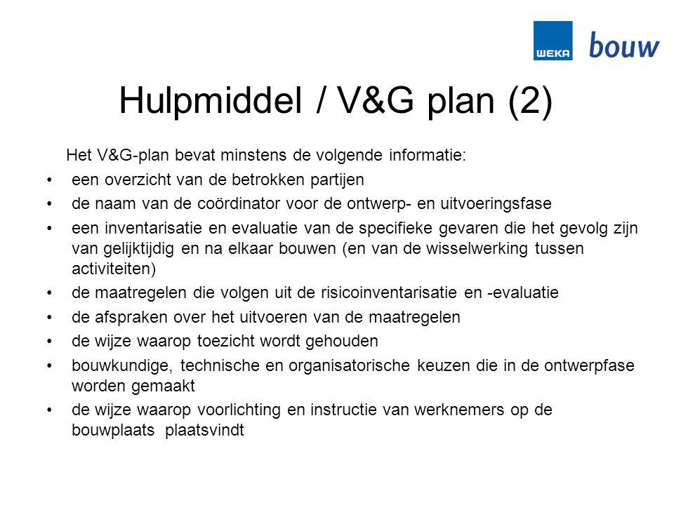 Hulpmiddel / V&G plan (2)