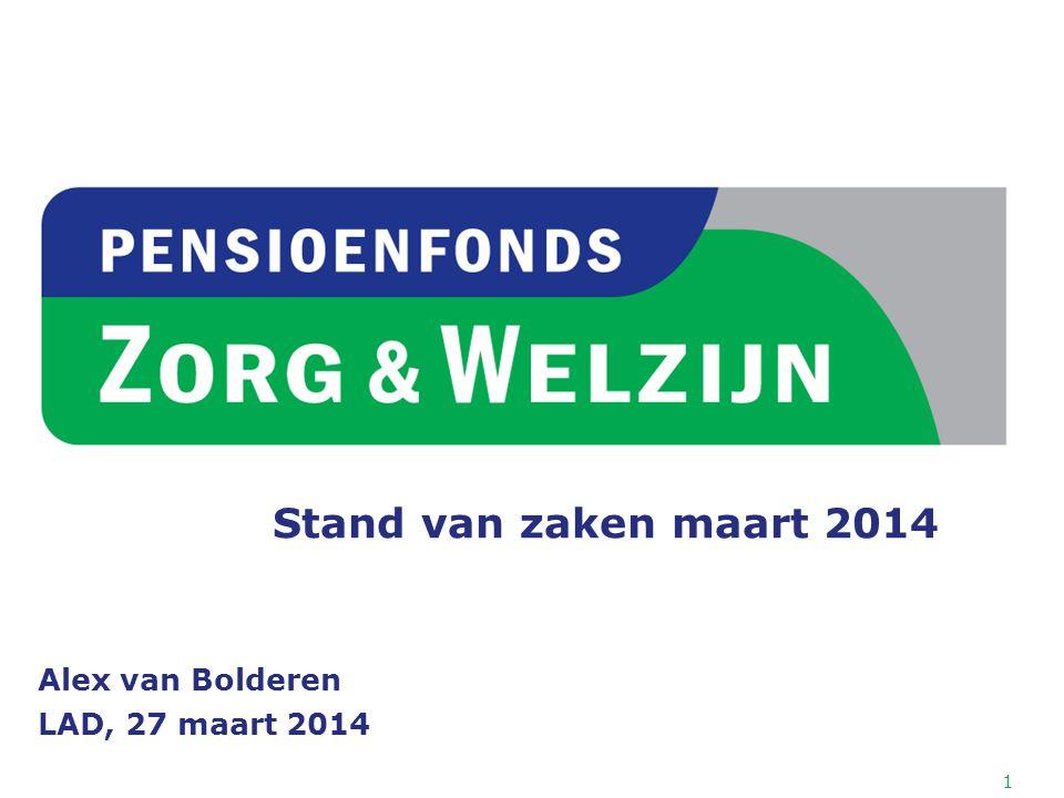 Stand van zaken maart 2014 Alex van Bolderen LAD, 27 maart 2014