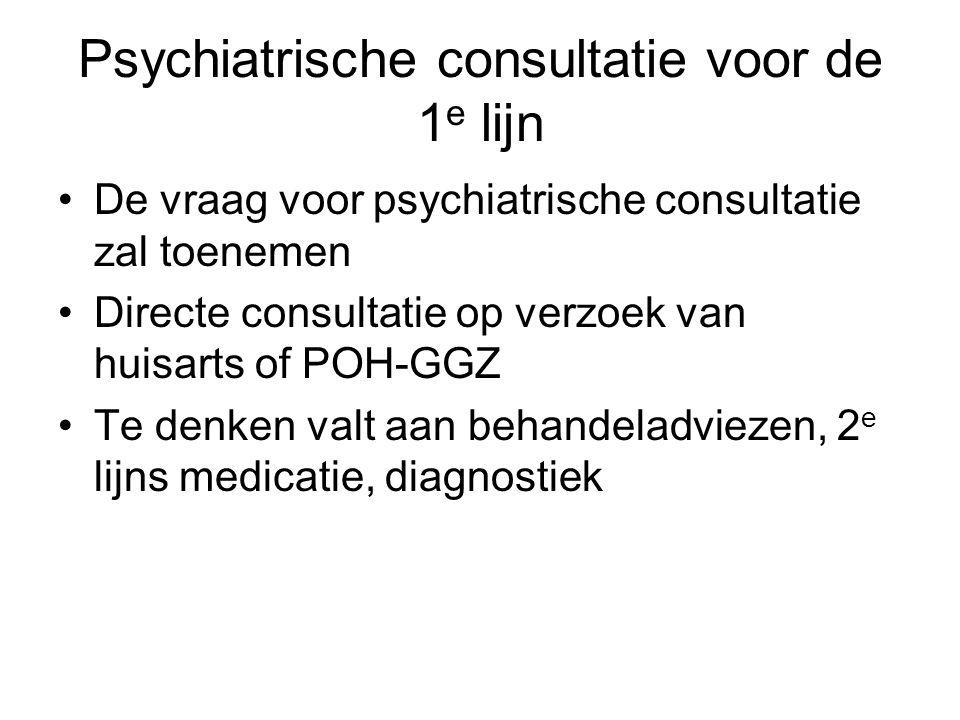 Psychiatrische consultatie voor de 1e lijn