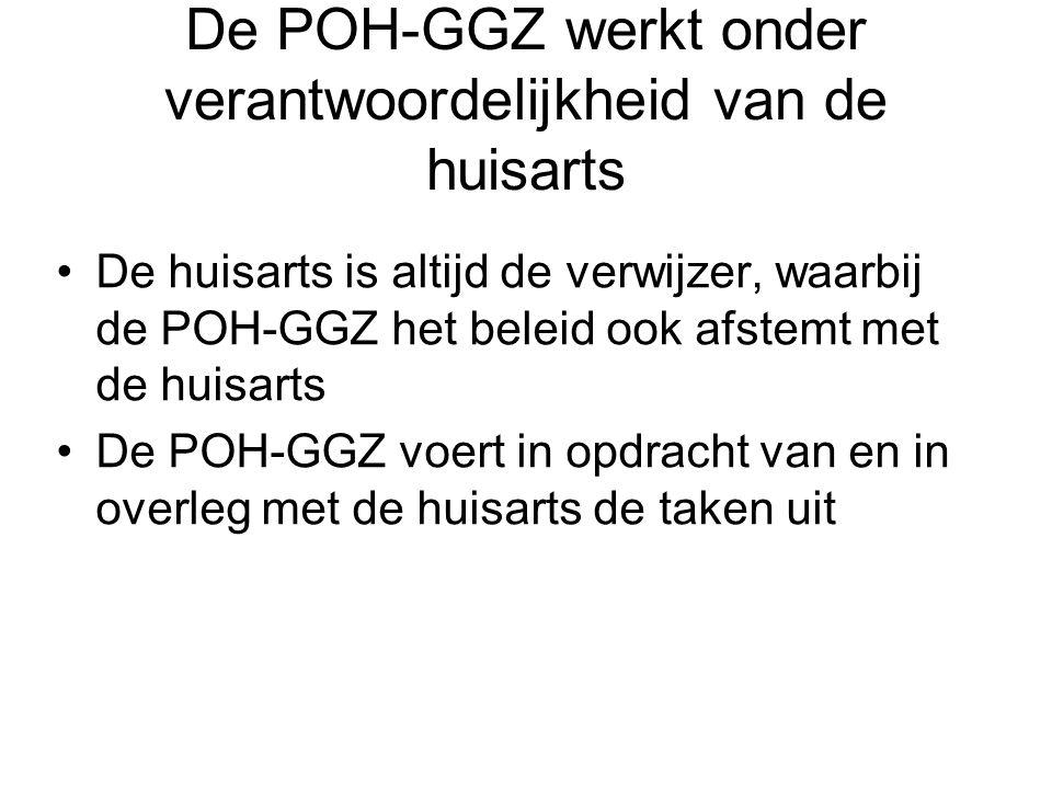 De POH-GGZ werkt onder verantwoordelijkheid van de huisarts