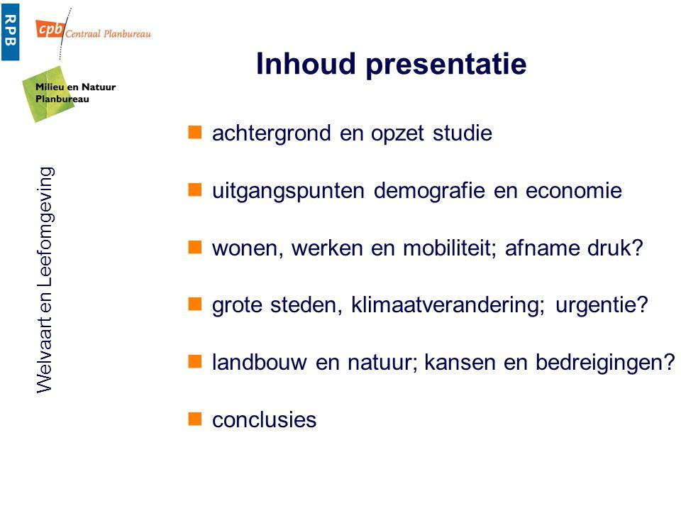 Inhoud presentatie achtergrond en opzet studie