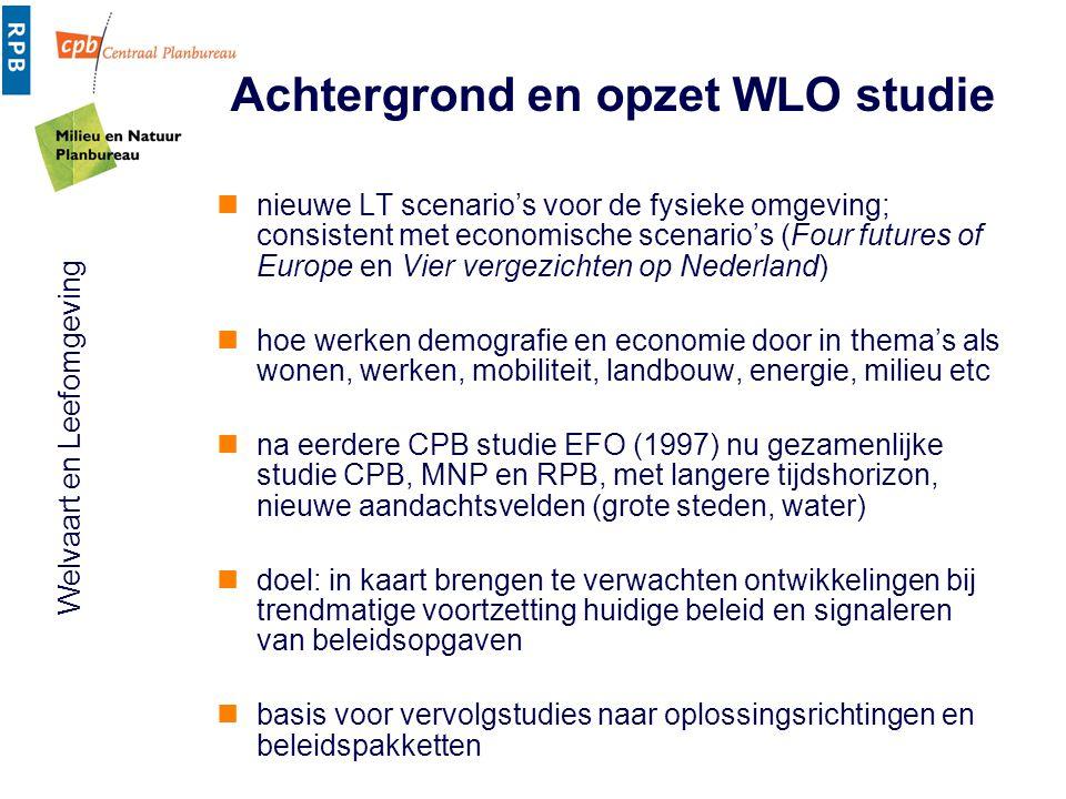 Achtergrond en opzet WLO studie