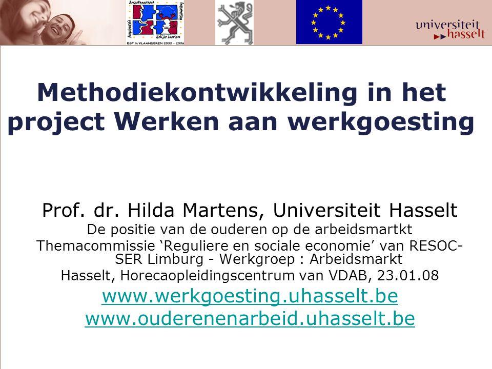 Methodiekontwikkeling in het project Werken aan werkgoesting