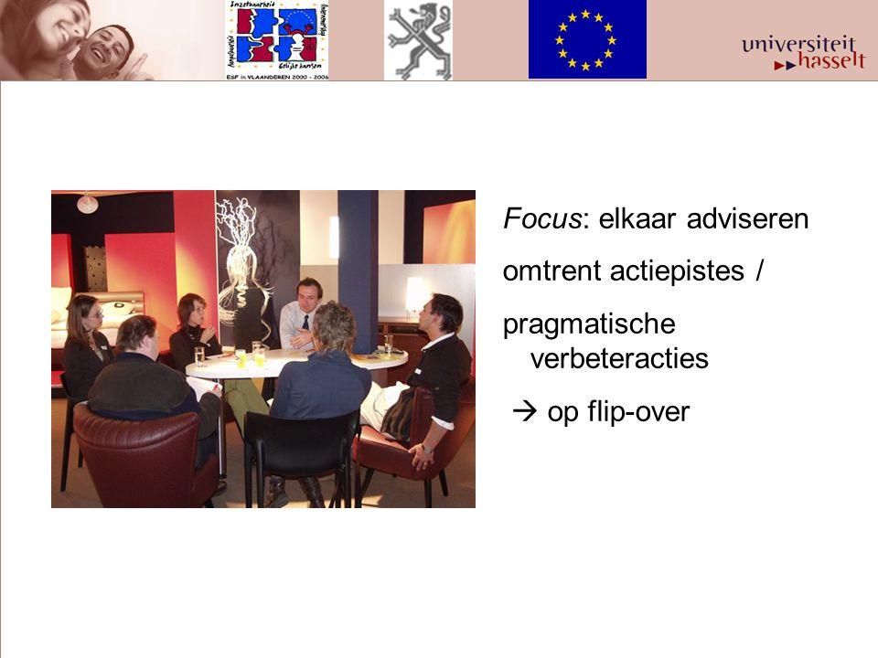 Focus: elkaar adviseren