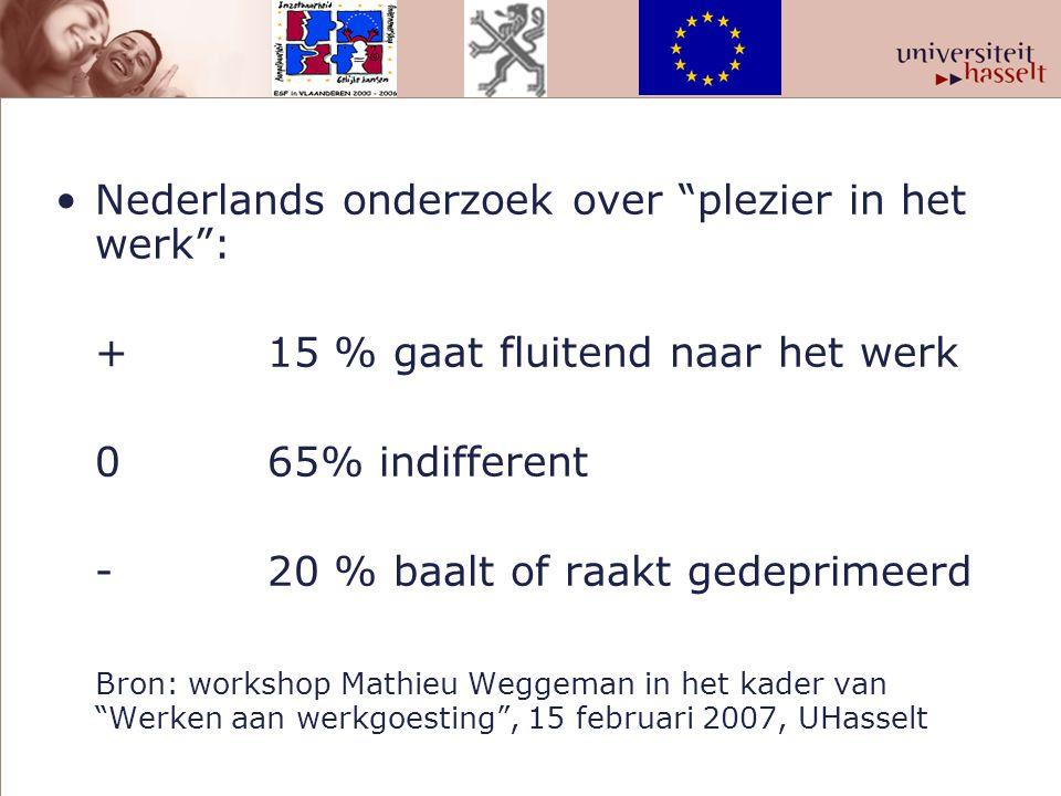 Nederlands onderzoek over plezier in het werk :