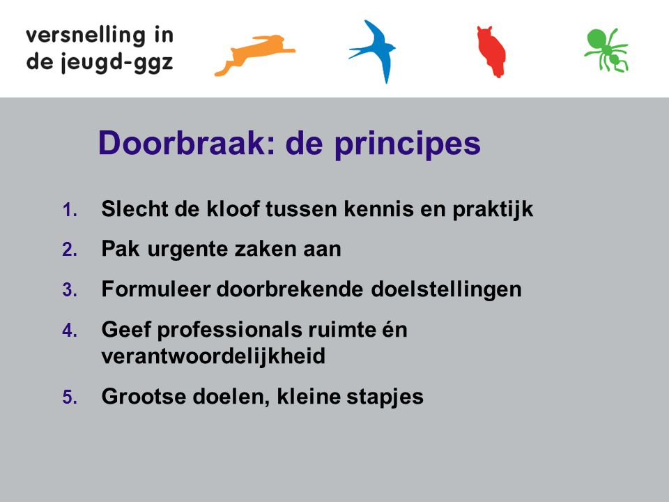 Doorbraak: de principes