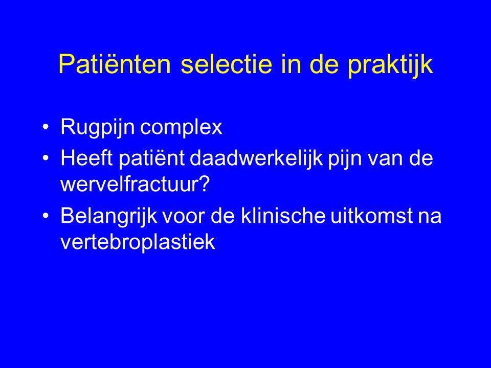 Patiënten selectie in de praktijk