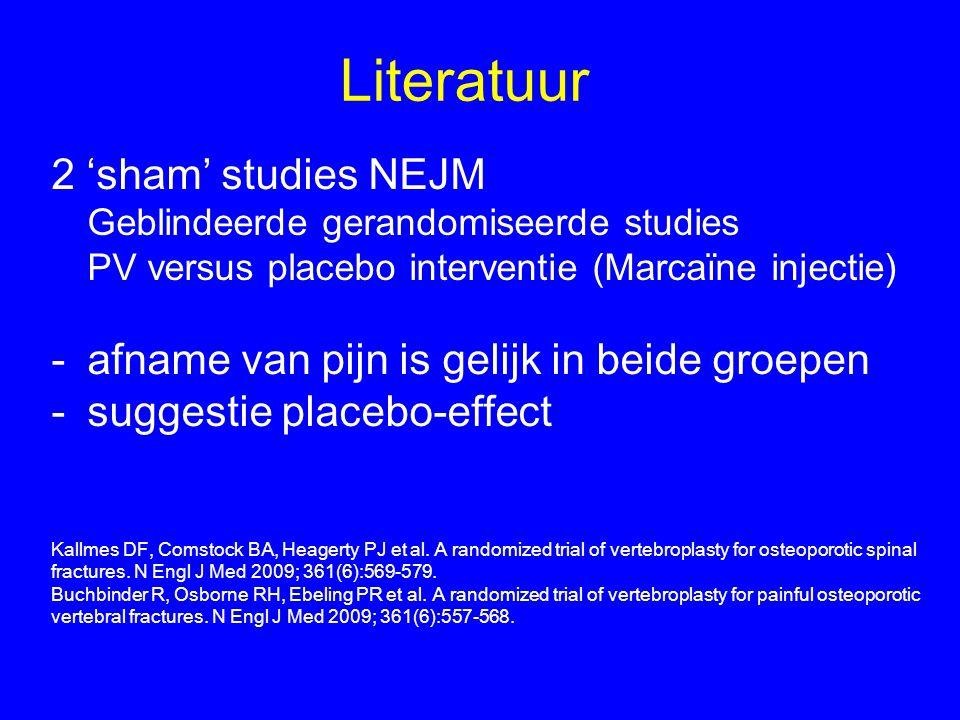 Literatuur 2 'sham' studies NEJM