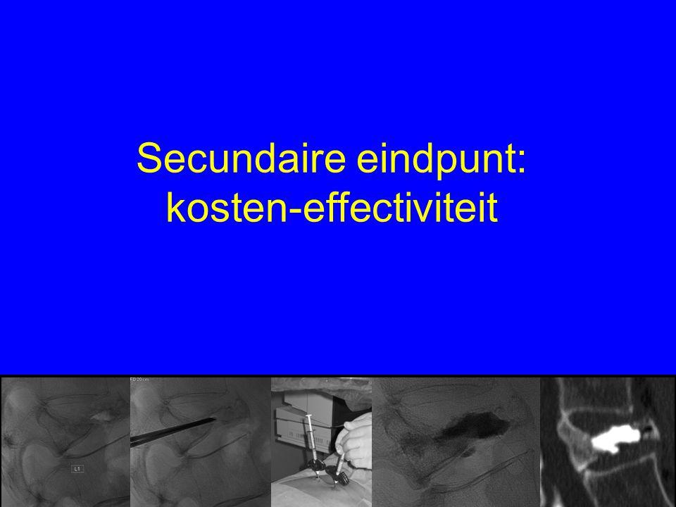 Secundaire eindpunt: kosten-effectiviteit