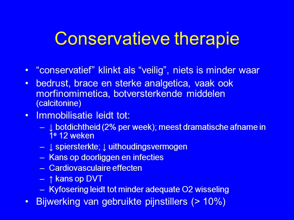 Conservatieve therapie