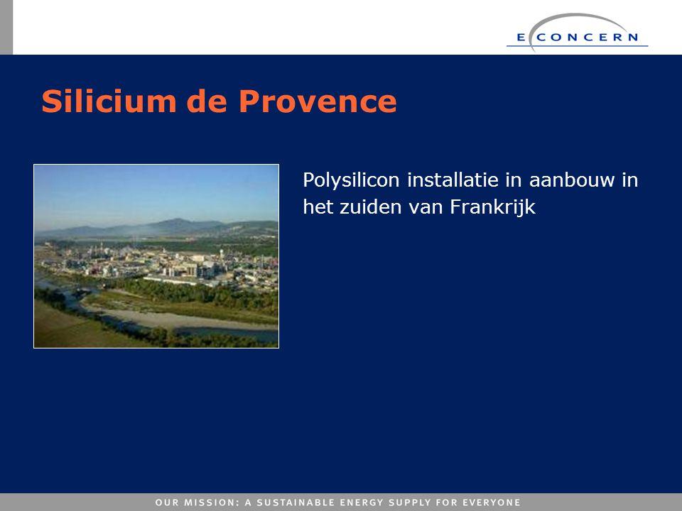 Silicium de Provence Polysilicon installatie in aanbouw in