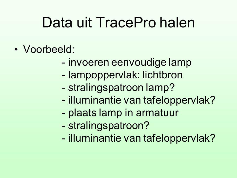 Data uit TracePro halen