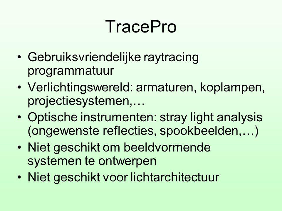 TracePro Gebruiksvriendelijke raytracing programmatuur