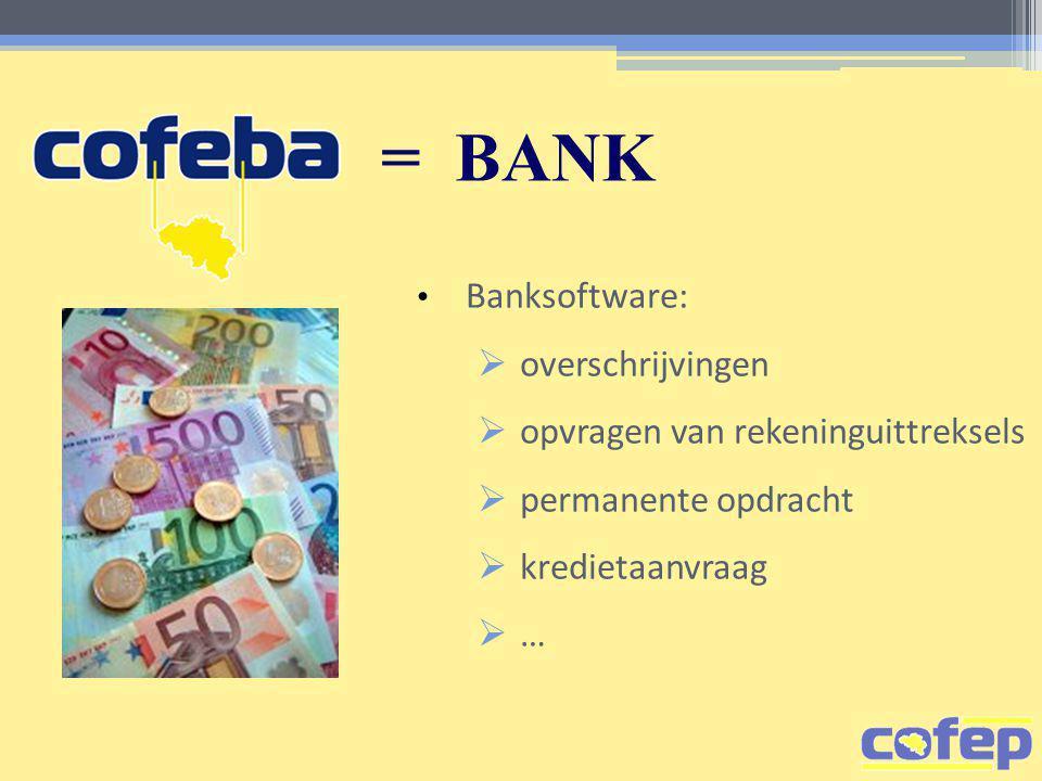 = BANK overschrijvingen opvragen van rekeninguittreksels