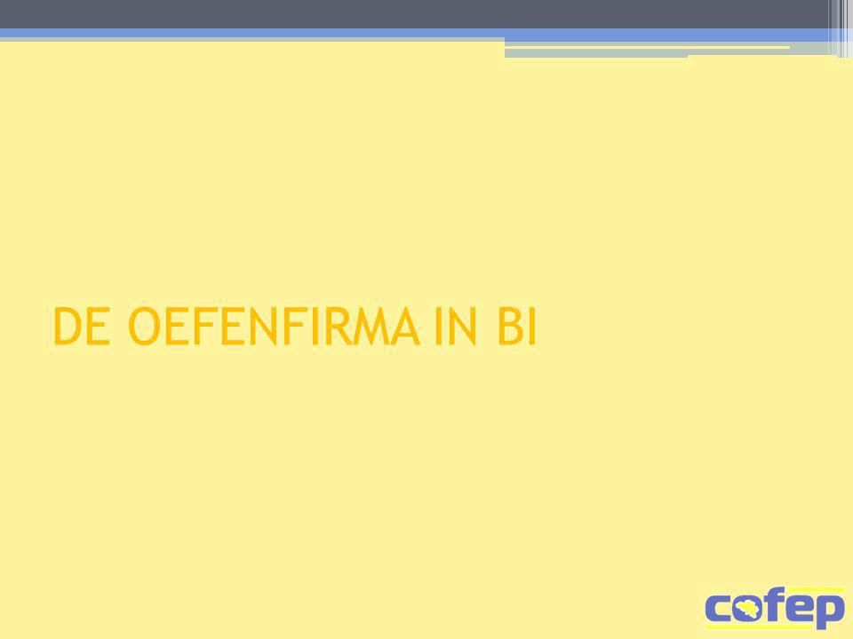 DE OEFENFIRMA IN BI