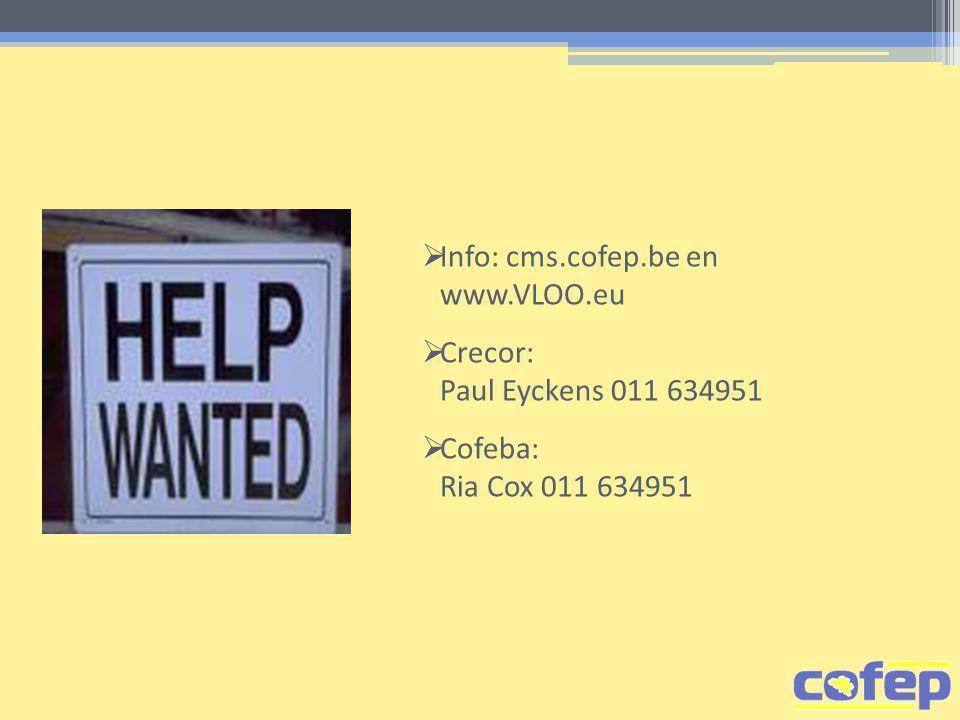 Info: cms.cofep.be en www.VLOO.eu