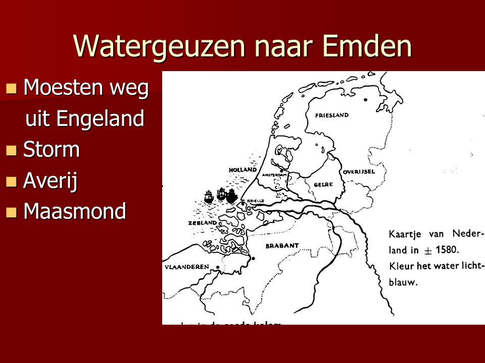 Watergeuzen naar Emden