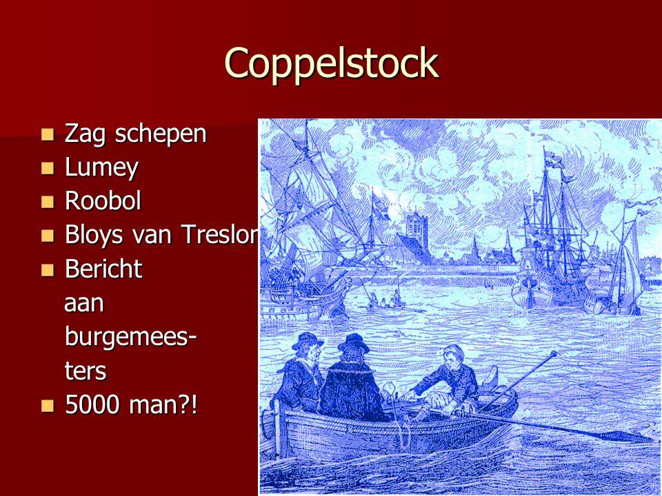 Coppelstock Zag schepen Lumey Roobol Bloys van Treslong Bericht aan