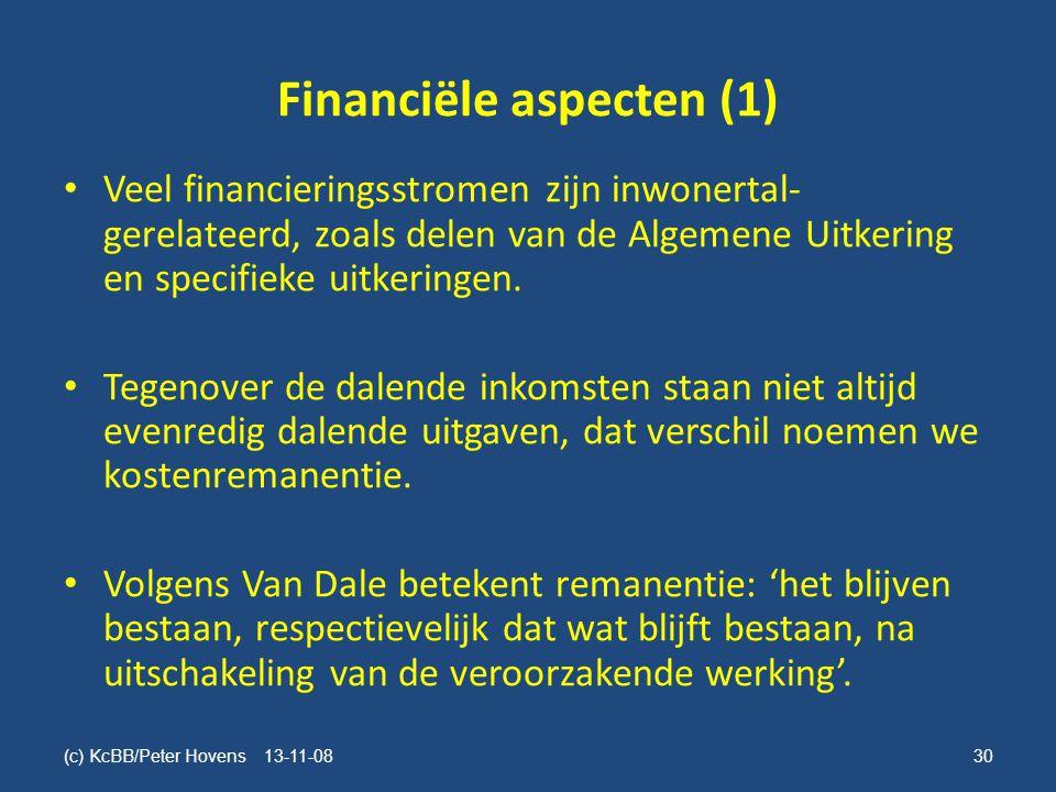 Financiële aspecten (1)