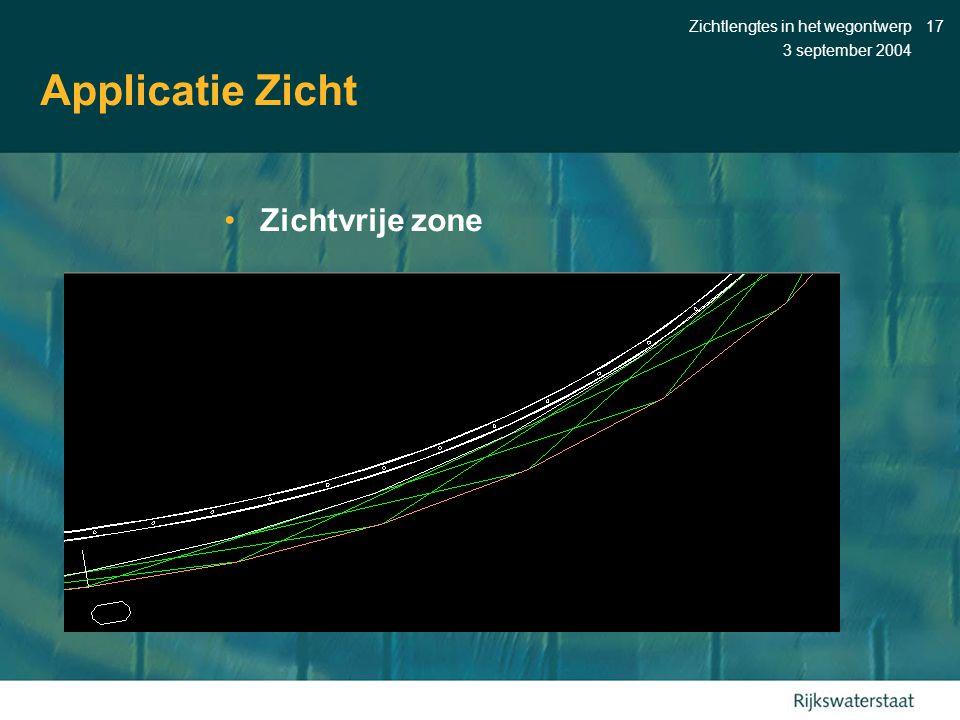 Applicatie Zicht Zichtvrije zone Zichtlengtes in het wegontwerp
