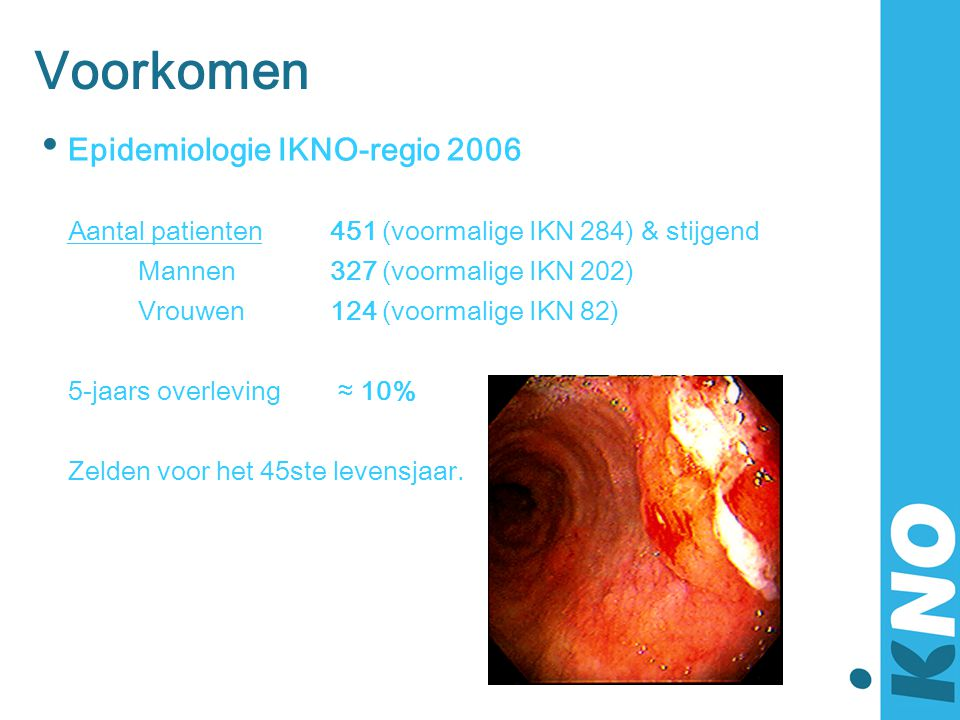 Voorkomen Epidemiologie IKNO-regio 2006