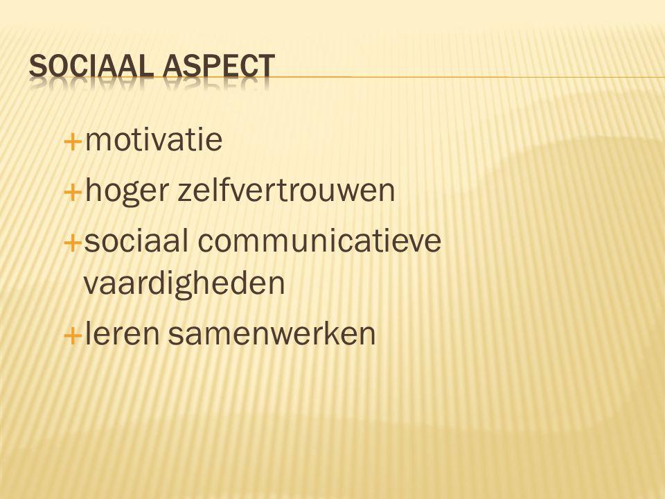 sociaal communicatieve vaardigheden leren samenwerken