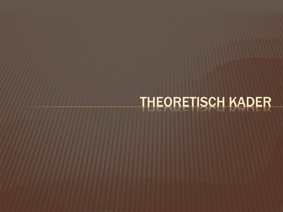 Theoretisch kader