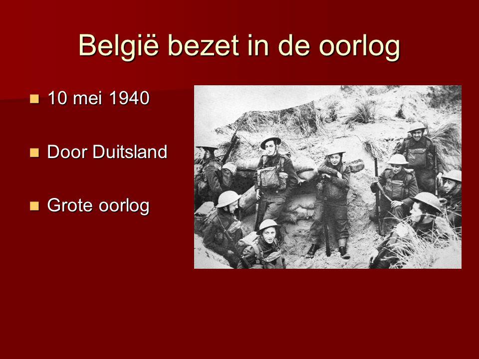 België bezet in de oorlog