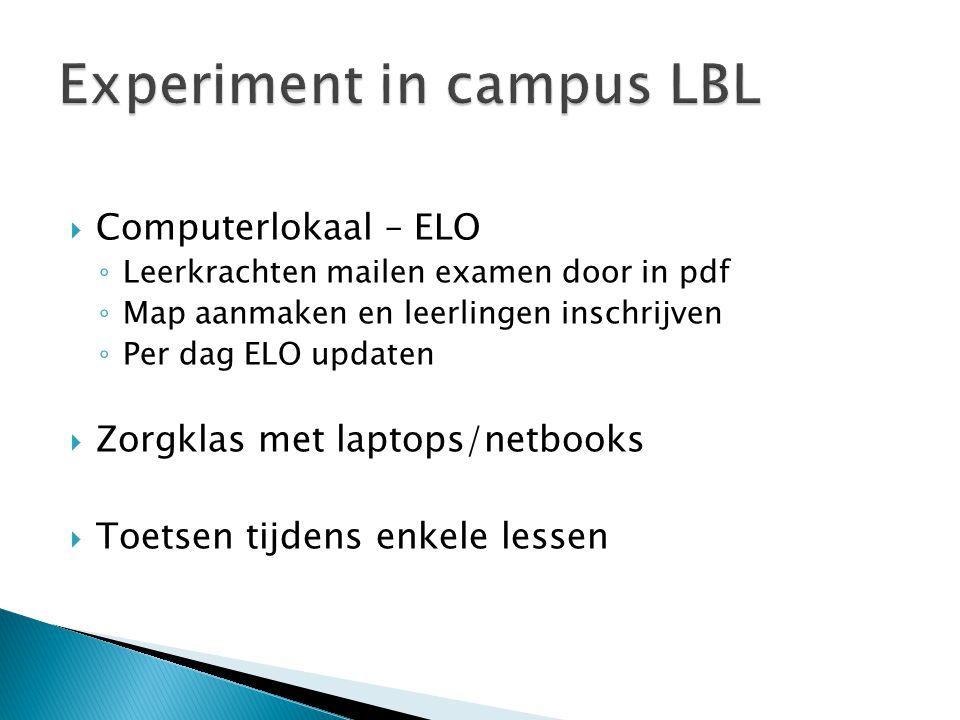 Experiment in campus LBL