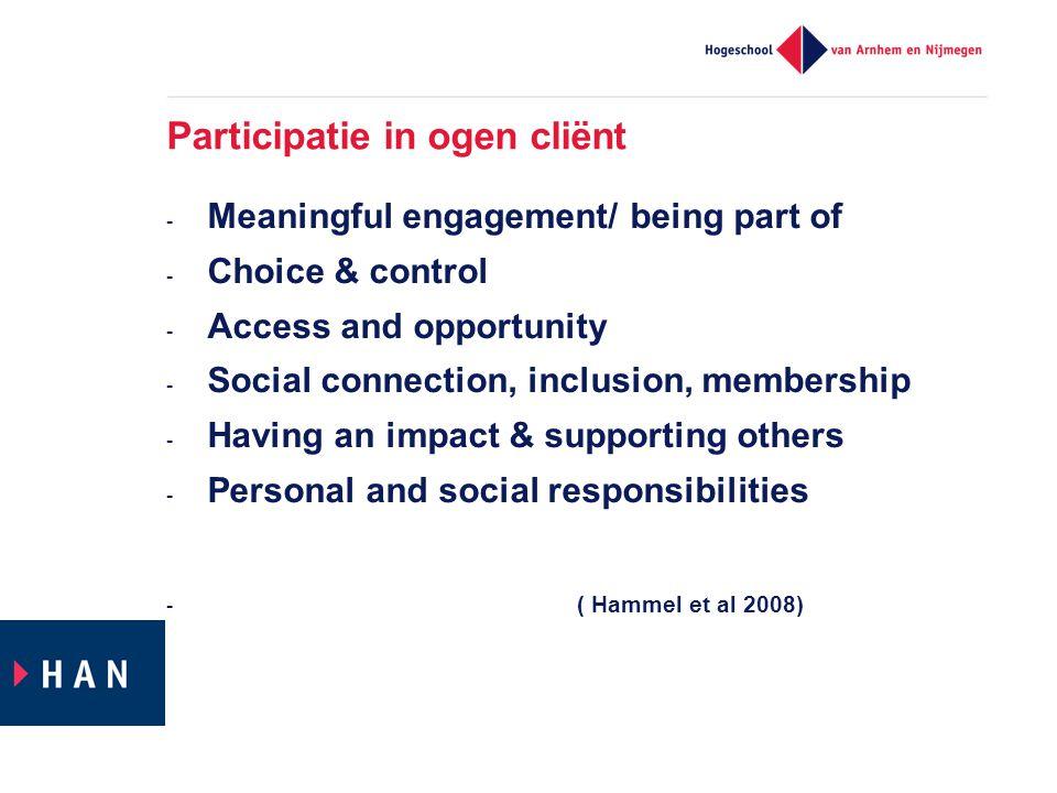 Participatie in ogen cliënt