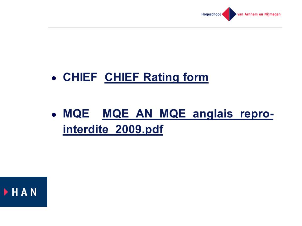 CHIEF CHIEF Rating form