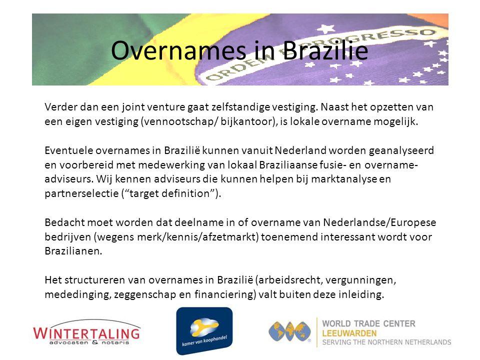 Overnames in Brazilie