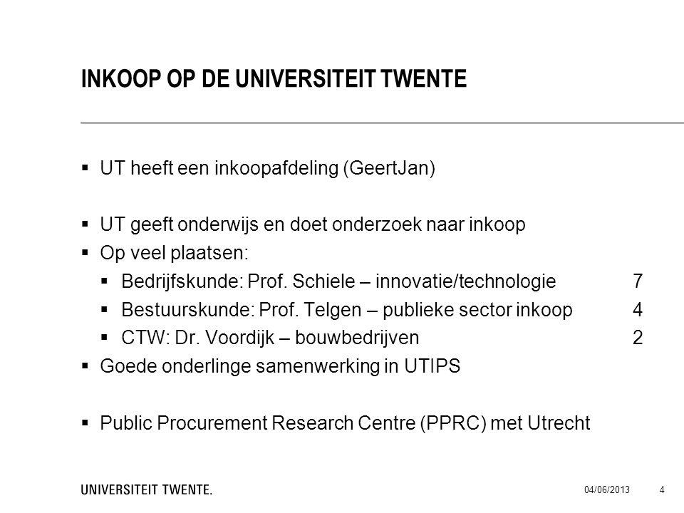 Inkoop op de universiteit Twente