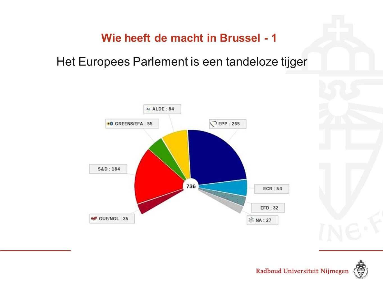 Wie heeft de macht in Brussel - 1