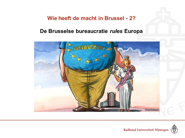 Wie heeft de macht in Brussel - 2