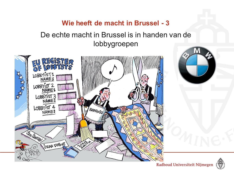 Wie heeft de macht in Brussel - 3