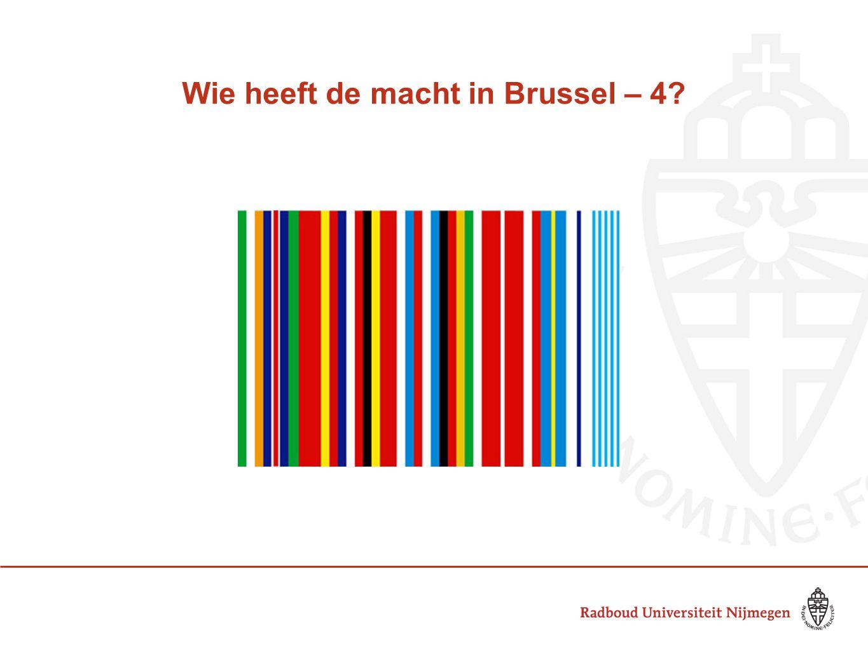 Wie heeft de macht in Brussel – 4
