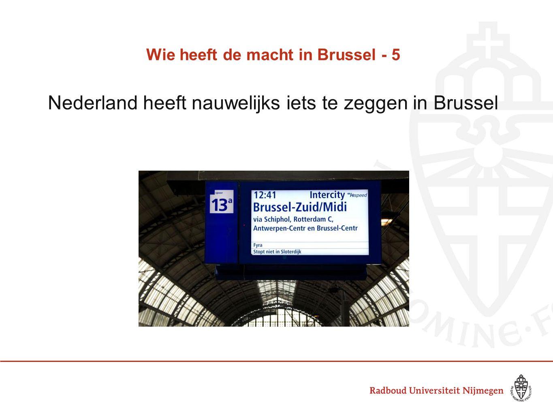 Wie heeft de macht in Brussel - 5