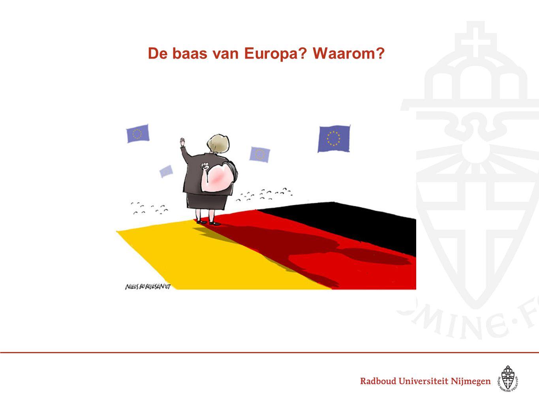 De baas van Europa Waarom