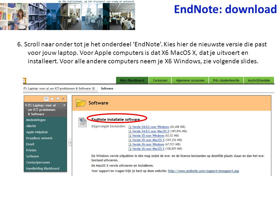 EndNote: download
