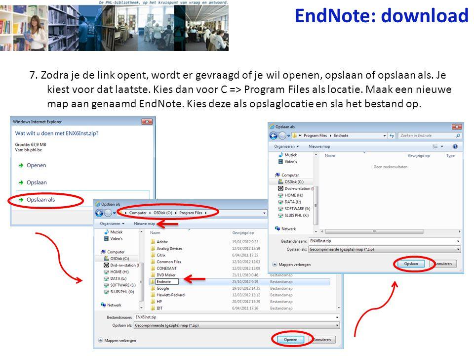 EndNote: download