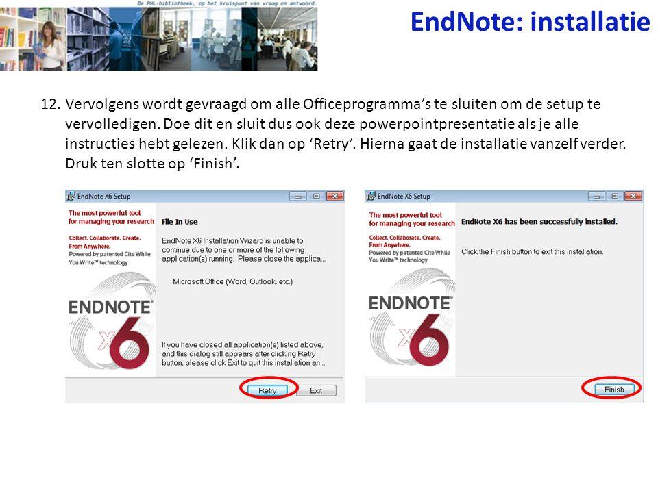 EndNote: installatie