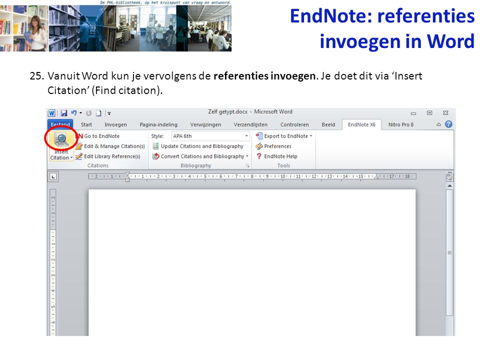 EndNote: referenties invoegen in Word
