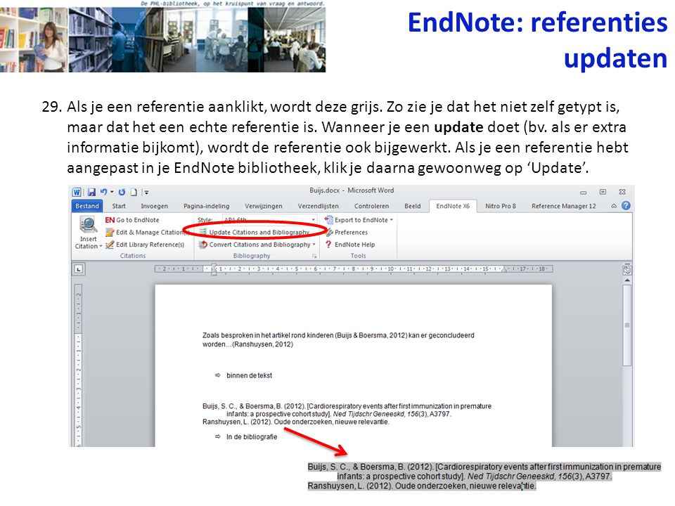 EndNote: referenties updaten