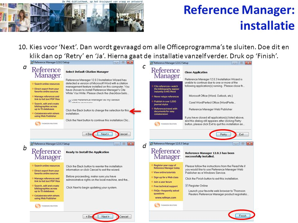 Reference Manager: installatie