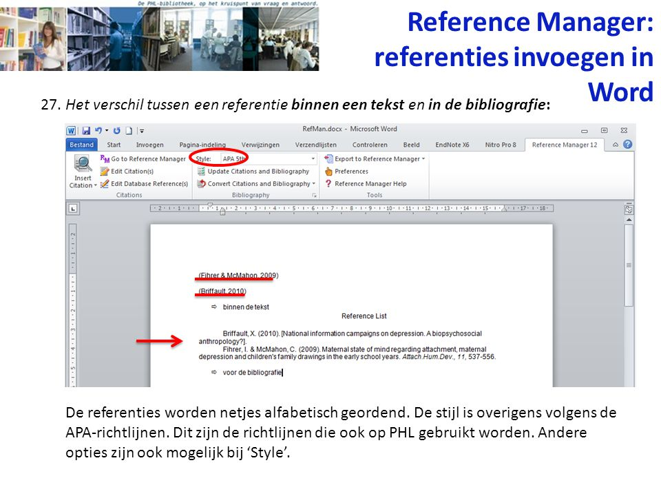Reference Manager: referenties invoegen in Word