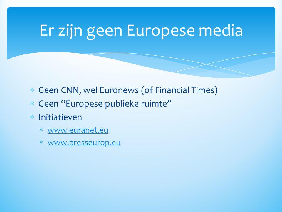 Er zijn geen Europese media